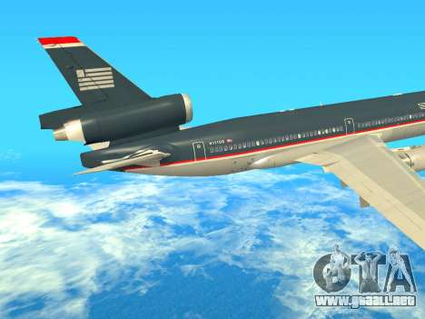 McDonnell Douglas MD-11 US Airways para GTA San Andreas vista hacia atrás