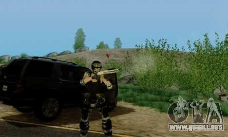 SWAT GIRL para GTA San Andreas quinta pantalla