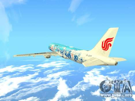 Airbus A320 Air China para vista lateral GTA San Andreas