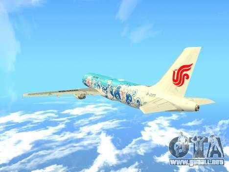 Airbus A320 Air China para vista lateral GTA San Andreas
