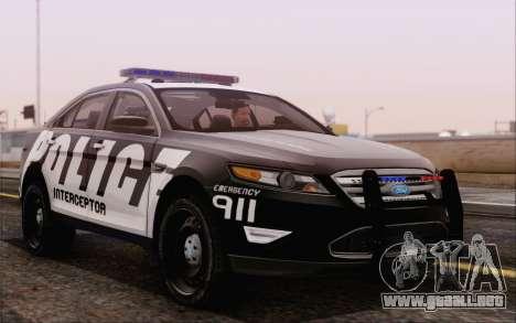 Ford Taurus Police para la visión correcta GTA San Andreas