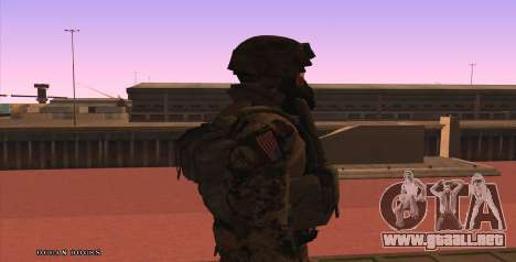 Global Defense Initiative Soldier para GTA San Andreas quinta pantalla