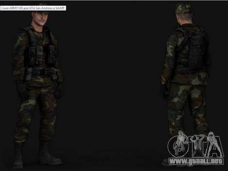 Army HD para GTA San Andreas sucesivamente de pantalla