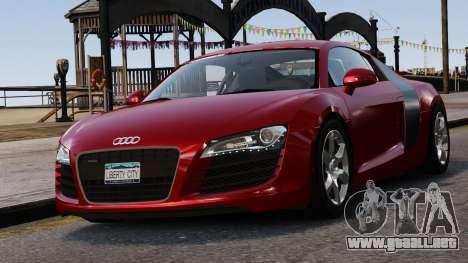 Audi R8 v1.1 para GTA 4 vista desde abajo