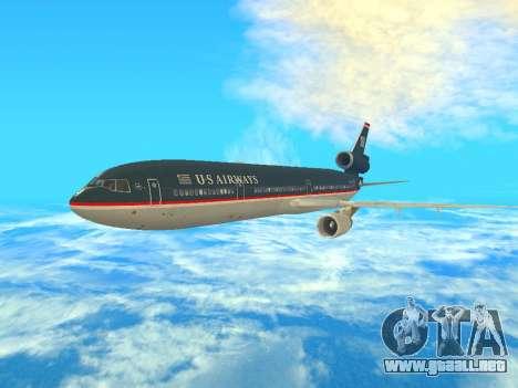 McDonnell Douglas MD-11 US Airways para GTA San Andreas left