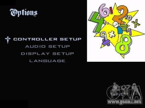 New Menu 2001 para GTA San Andreas segunda pantalla