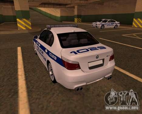 BMW M5 E60 Police LS para GTA San Andreas left
