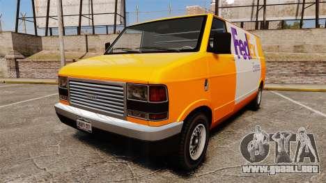 Brute Pony FedEx Express para GTA 4