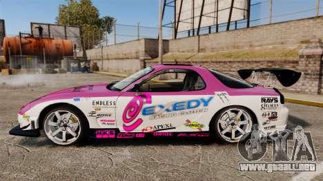 Mazda RX-7 D1 EXEDY para GTA 4 left