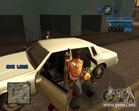 C-HUD Minimal para GTA San Andreas quinta pantalla