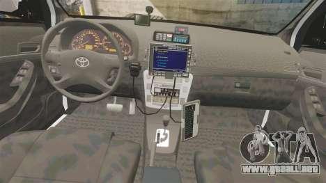 Toyota Hilux Police Western Australia para GTA 4 vista hacia atrás