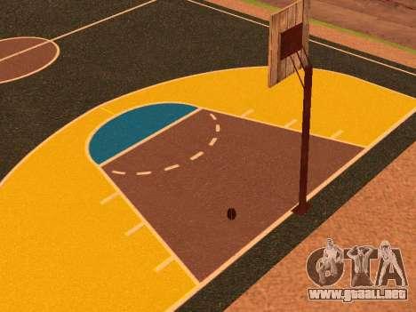 Nueva cancha de baloncesto para GTA San Andreas sexta pantalla