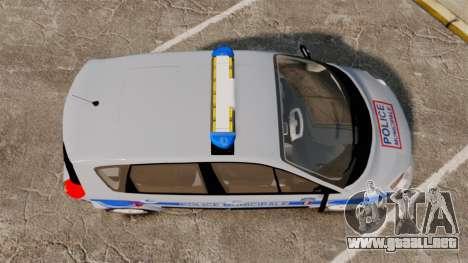 Renault Scenic Police Municipale [ELS] para GTA 4 visión correcta