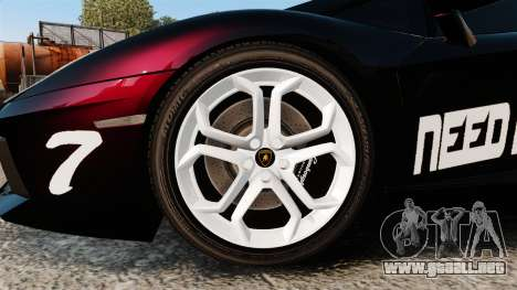Lamborghini Aventador LP700-4 2012 [EPM] NFS para GTA 4 vista hacia atrás