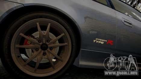 Honda Mugen Integra Type-R 2002 para GTA 4 vista hacia atrás
