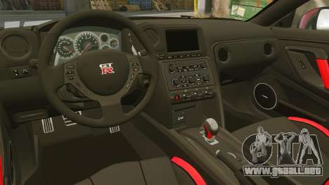 Nissan GT-R Black Edition 2012 Drive para GTA 4 vista interior