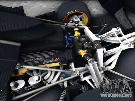 Pagani Zonda R 2009 para visión interna GTA San Andreas