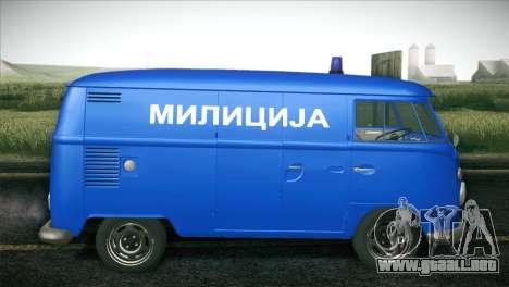 Volkswagen T1 Milicija para GTA San Andreas left