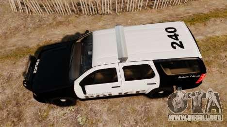 Chevrolet Tahoe 2008 LCPD [ELS] para GTA 4 visión correcta