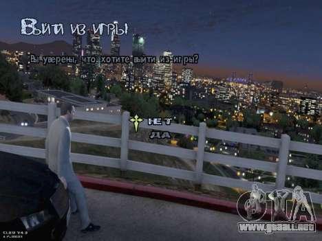 New Menu GTA 5 para GTA San Andreas séptima pantalla