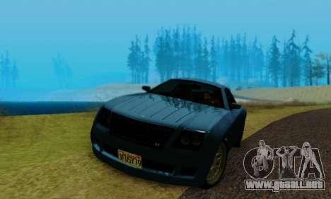 Fusilade GTA V para GTA San Andreas vista hacia atrás
