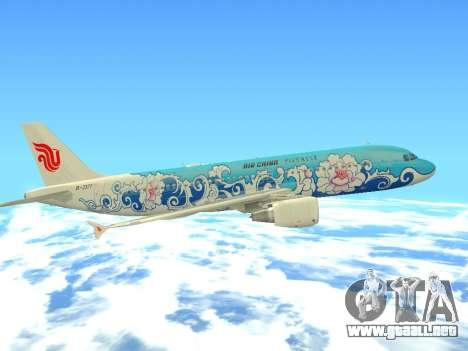 Airbus A320 Air China para vista inferior GTA San Andreas