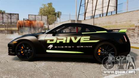 Nissan GT-R Black Edition 2012 Drive para GTA 4 left