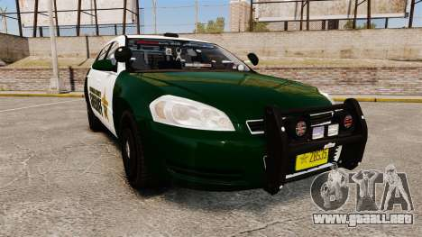 Chevrolet Impala 2010 Broward Sheriff [ELS] para GTA 4