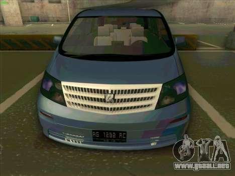 Toyota Alphard para la visión correcta GTA San Andreas