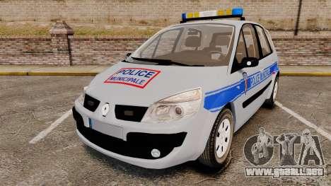 Renault Scenic Police Municipale [ELS] para GTA 4