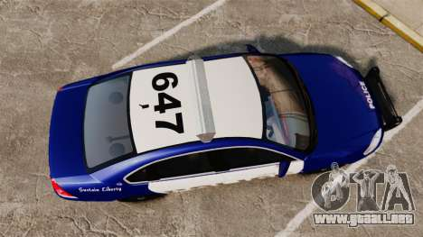 Chevrolet Impala 2008 LCPD [ELS] para GTA 4 visión correcta