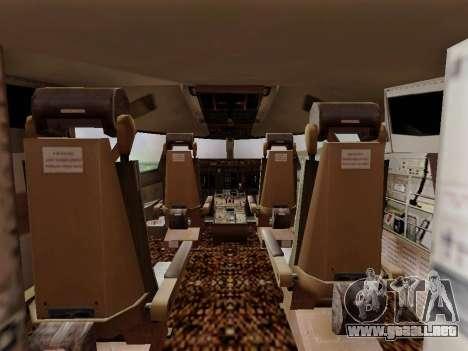 Boeing 747 Air India para visión interna GTA San Andreas