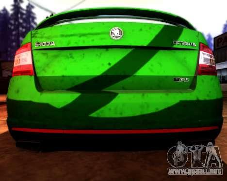 Skoda Octavia A7 RS para la vista superior GTA San Andreas