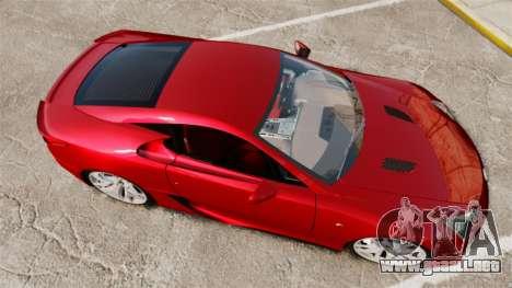 Lexus LF-A 2010 v2.0 [EPM] Final Version para GTA 4 visión correcta