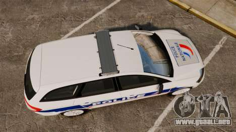 Ford Mondeo IV Wagon Police Nationale [ELS] para GTA 4 visión correcta