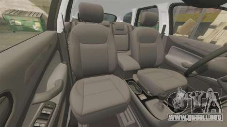 Ford Mondeo IV Wagon Police Nationale [ELS] para GTA 4 vista superior