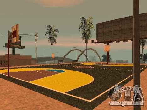 Nueva cancha de baloncesto para GTA San Andreas séptima pantalla