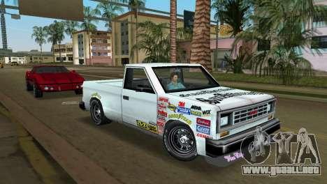 Bobcat Turbo para GTA Vice City vista lateral izquierdo