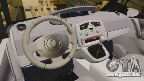 Renault Espace Police Nationale [ELS] para GTA 4 vista interior