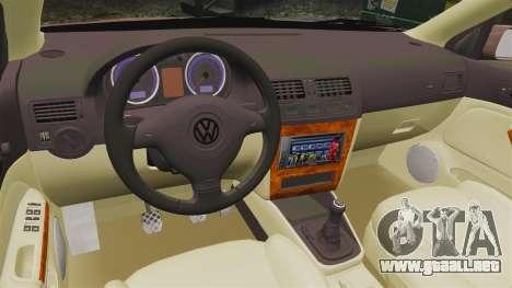 Volkswagen Bora 1.8T Camel para GTA 4 vista interior