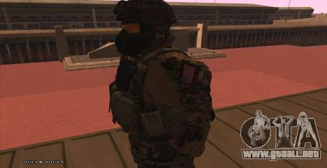 Global Defense Initiative Soldier para GTA San Andreas sexta pantalla