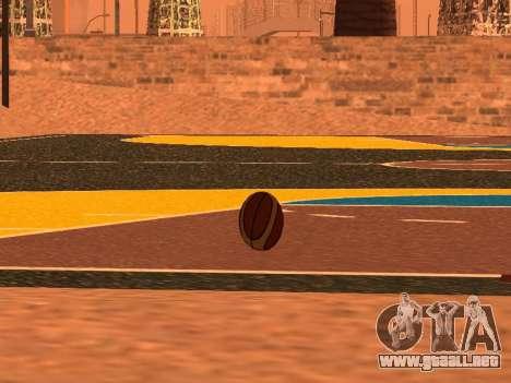 De nuevo el baloncesto de la compañía de Fundido para GTA San Andreas sucesivamente de pantalla