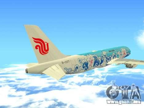 Airbus A320 Air China para la vista superior GTA San Andreas