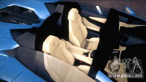 Lamborghini Aventador Roadster para visión interna GTA San Andreas