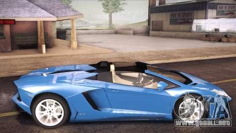 Lamborghini Aventador Roadster para GTA San Andreas left