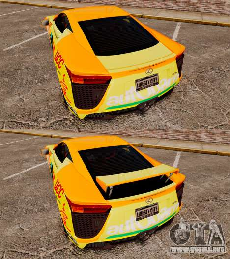 Lexus LF-A 2010 [EPM] Goodsmile Racing para GTA 4 vista lateral