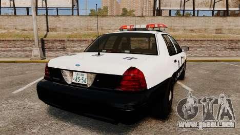 Ford Crown Victoria Japanese Police [ELS] para GTA 4 Vista posterior izquierda