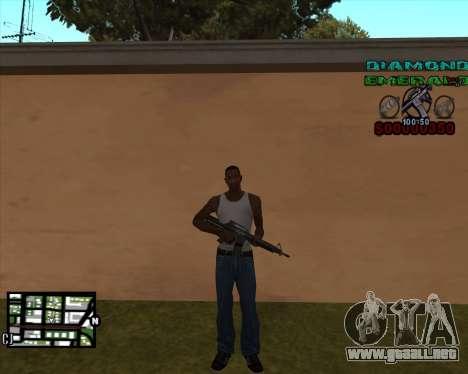 C-HUD Diamond Emerald para GTA San Andreas