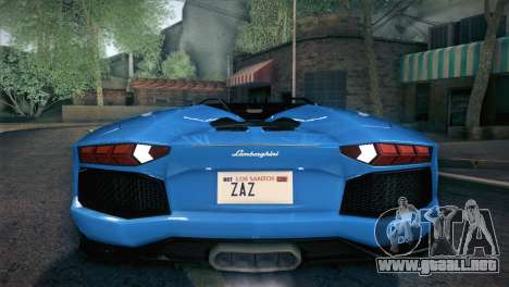 Lamborghini Aventador Roadster para las ruedas de GTA San Andreas
