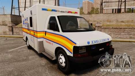 Brute Speedo LEMS Ambulance [ELS] para GTA 4